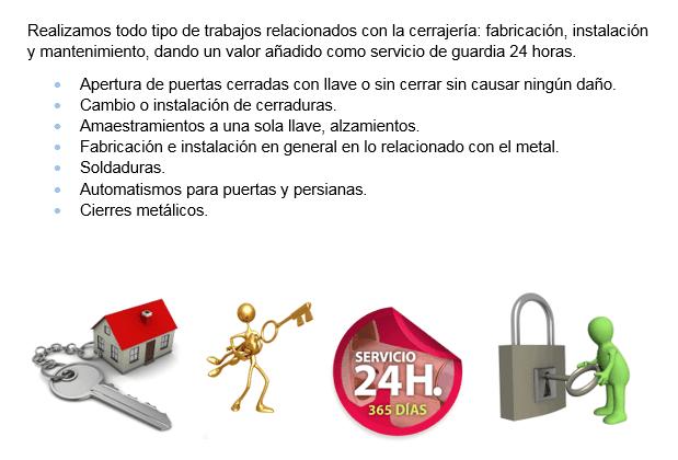 Cerrajeros El Puig servicios 24 horas